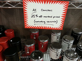 25% off all Canisters for December